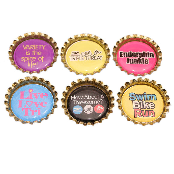 Tri BottleCap Magnets