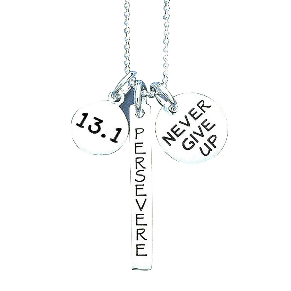 13.1 Persevere Never Give Up Charm Trio Necklace