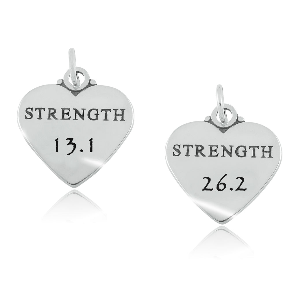 13.1 & 26.2 Heart of Strength Charms