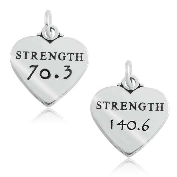 70.3 & 140.6 Heart of Strength Charms