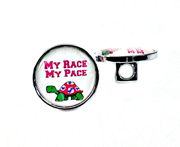 My Race My Pace Shoe Lace Charm