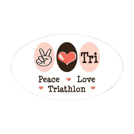Peace Love Triathlon Sticker