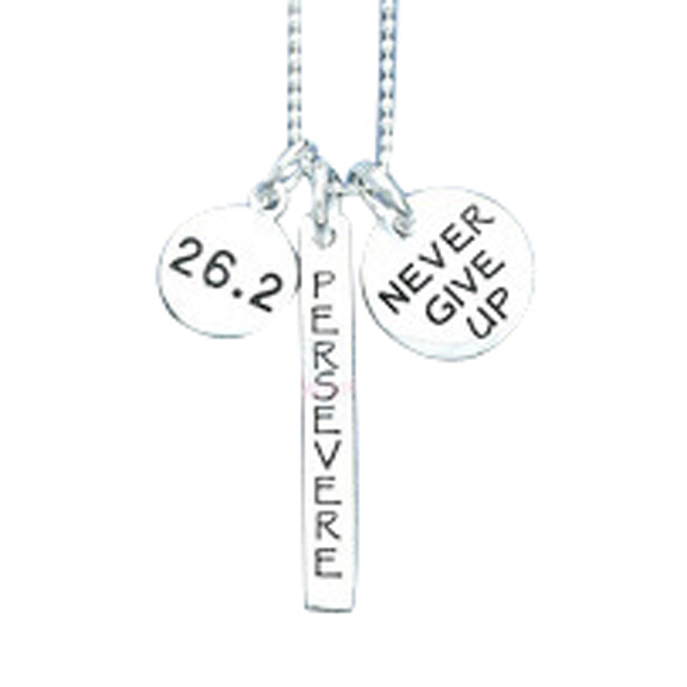 26.2 Perseverance Charm Trio Necklace