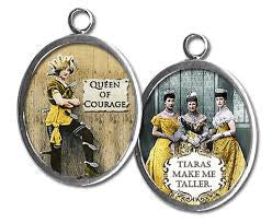 Queen of Courage Glass Pendant