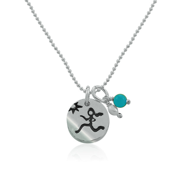 Runner Girl | Breathe Charm Trio Necklace