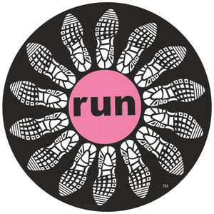 Run Flower Sticker