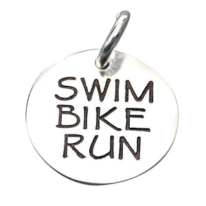 Swim Bike Run Triathlon Charm