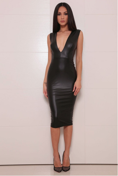 Halona Black Bodycon