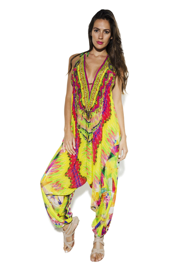 SARINA HAREM JUMPSUIT IN YELLOW