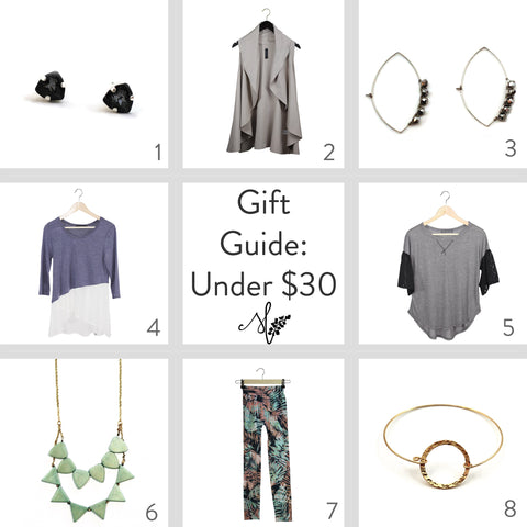 Gift Guide Ethical Fashion Under $30