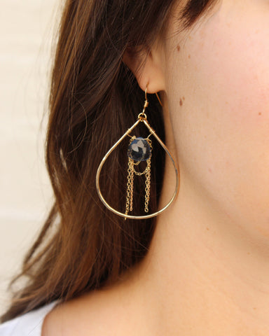 Gold Glam Hoop Earrings (On) / Handmade Jewelry