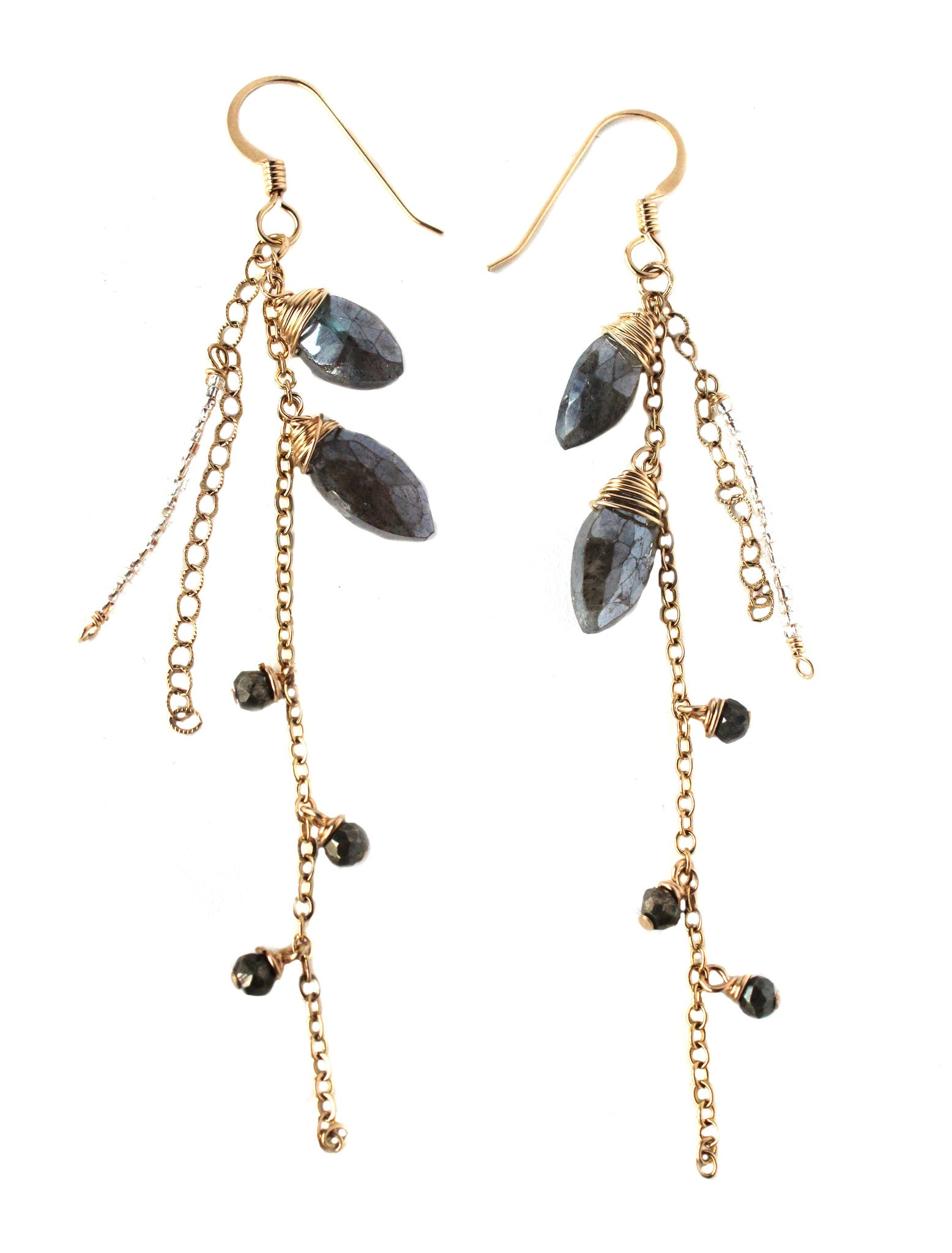Cascading Labradorite Earrings / Handmade Jewelry