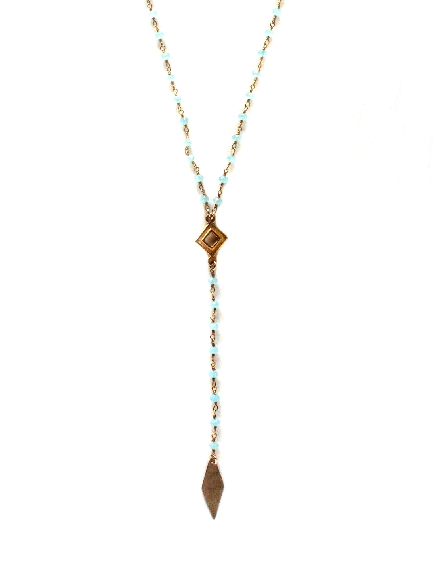 Ethical Fashion / Handmade Aqua Necklace