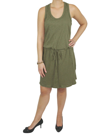 Green Cotton Dress (Front) / Ethical Fashion