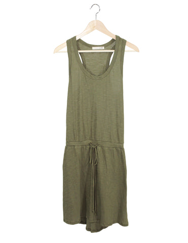 Green Cotton Dress / Ethical Fashion