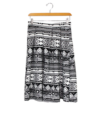 Black and White Artist Skirt / Ethical Fashion
