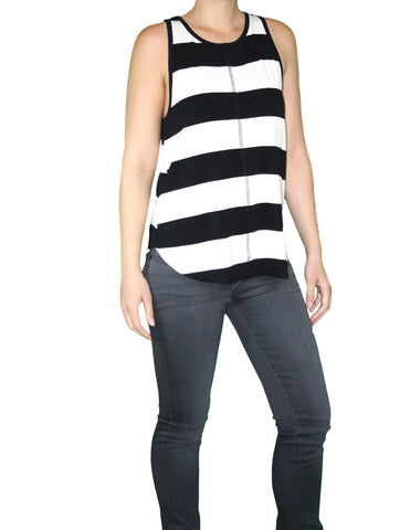 Black and White Tank Front / Ethical Fashion