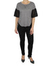 Charcoal Top with Lace Sleeves (Front) / Ethical Fashion