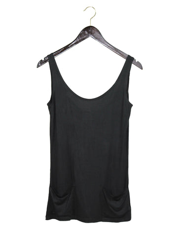 Black Pocket Tank Top / Ethical Fashion