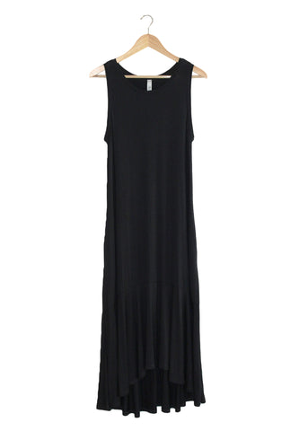 Black Ruffle Maxi | Made in America | Ethical Fashion