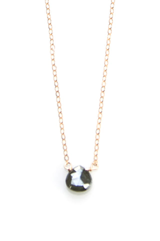Black Silverite Teardrop Necklace