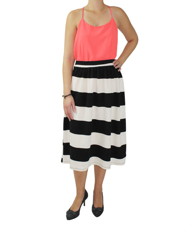 Black & White Midi Skirt / Ethical Fashion