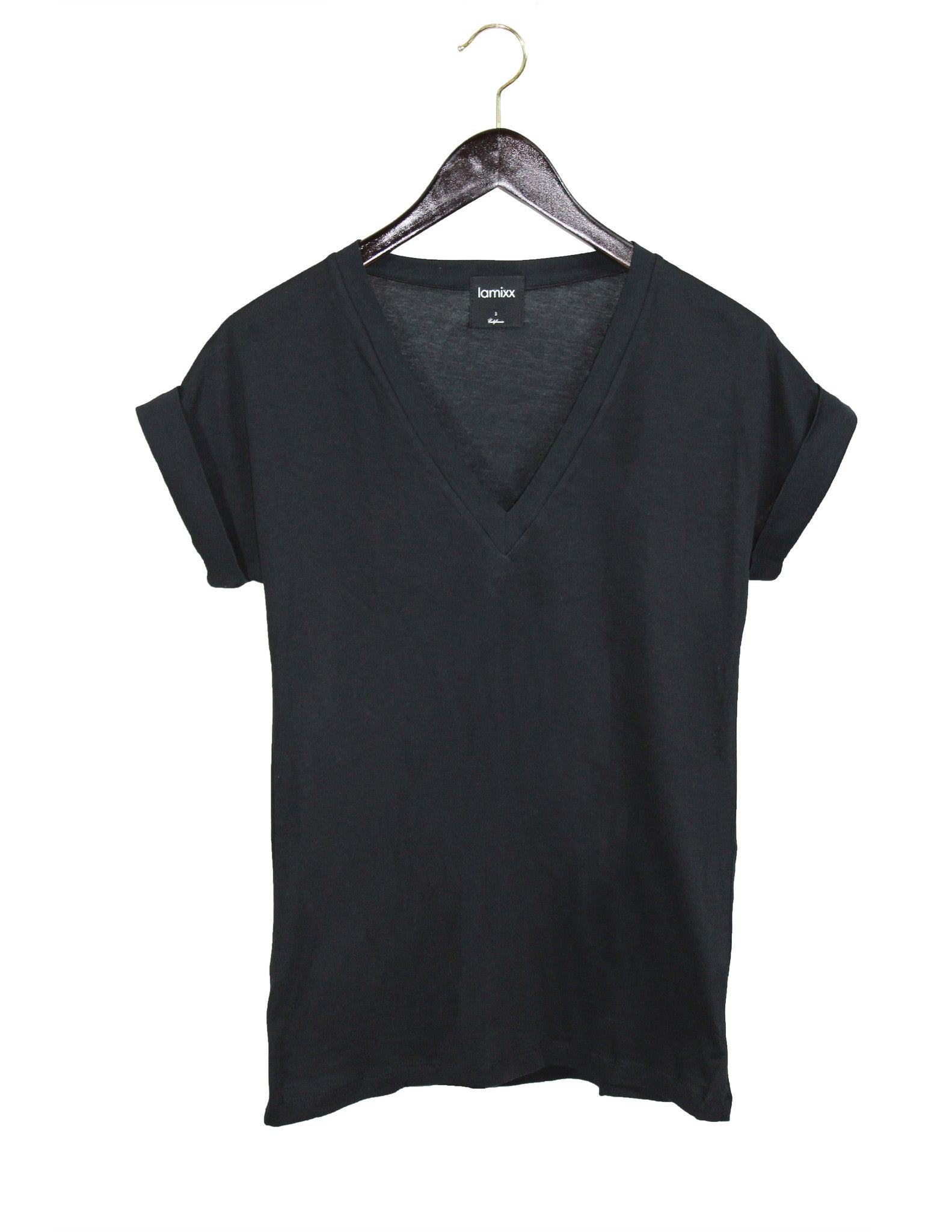 Perfect Black V-Neck Tee / Ethical Fashion