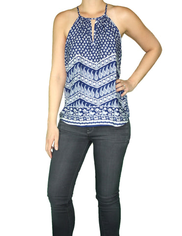 Blue Handkerchief Top (Front) / Ethical Fashion