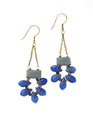 Blue Gem Earrings / Fair Trade Jewelry