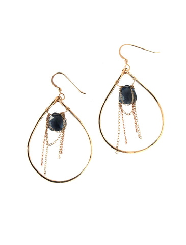 Gold Glam Hoop Earrings / Handmade Jewelry