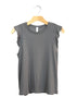 Charcoal Flutter Top | Made in America | Ethical Fashion