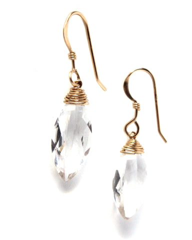 Crystal Clear Earrings / Handmade Jewelry