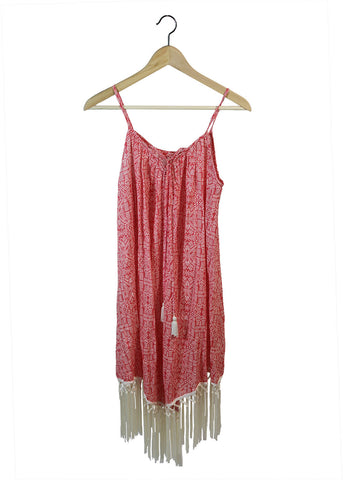 Coral Tassel Dress | Made in America