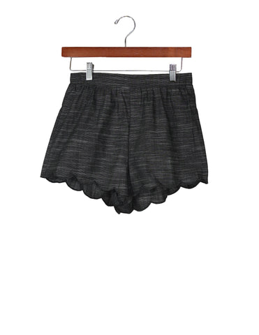 Dark Chambray Scallop Shorts / Ethical Fashion