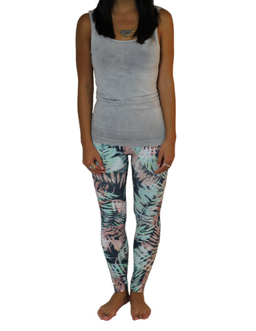 Fern Patterned Leggings, Front