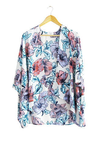 Floral Watercolor Kimono | Made in America