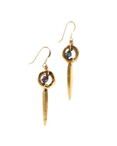 Gold Drop Earrings / Handmade Jewelry