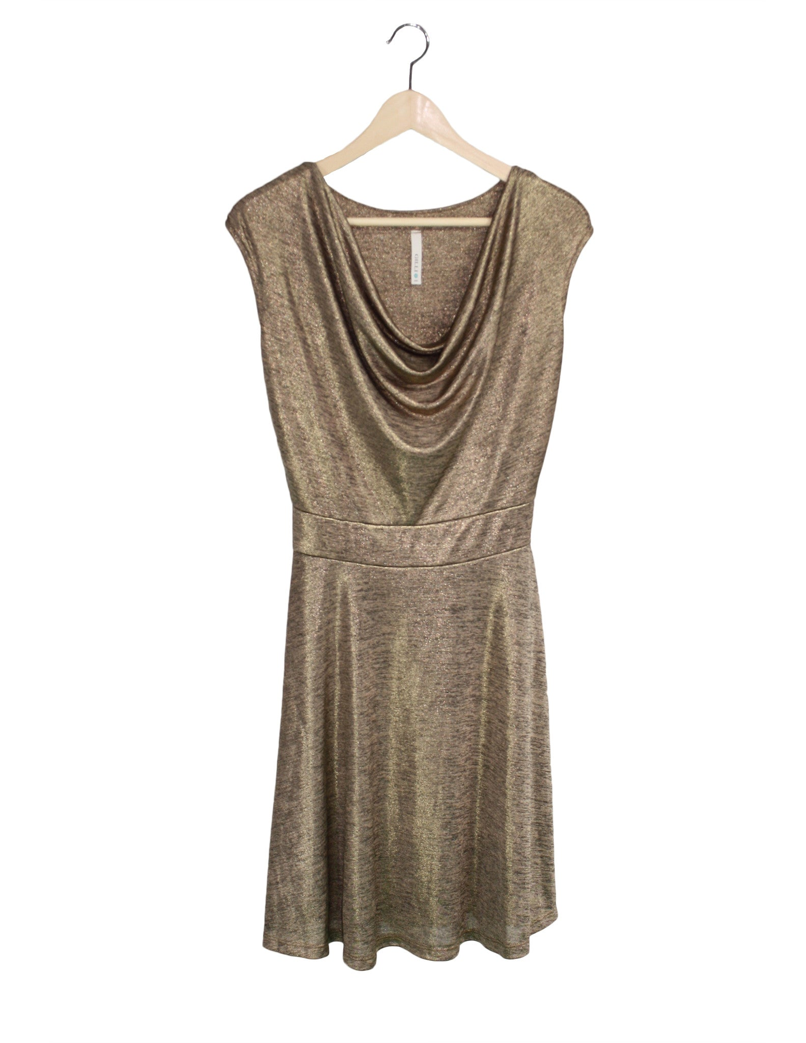 Gold Glam Draped Dress / Ethical Fashion