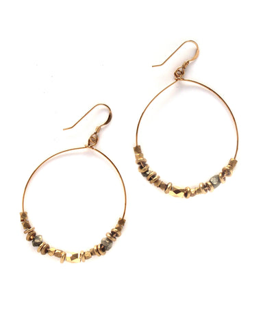 Gold Hoop Earrings / Handmade Jewelry