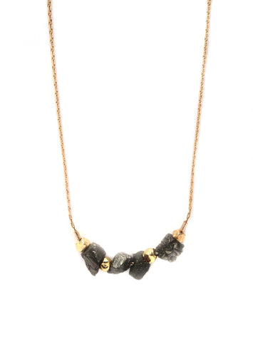 Gold Nugget Necklace / Handmade Jewelry