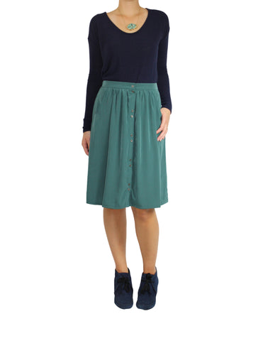 Green Moss Skirt with Pockets (Front) / Ethical Fashion
