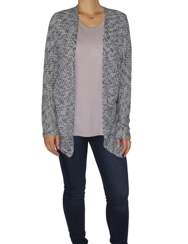 Grey Open Cardigan Front / Ethical Fashion