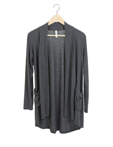 Charcoal Pocket Cardigan / Ethical Fashion