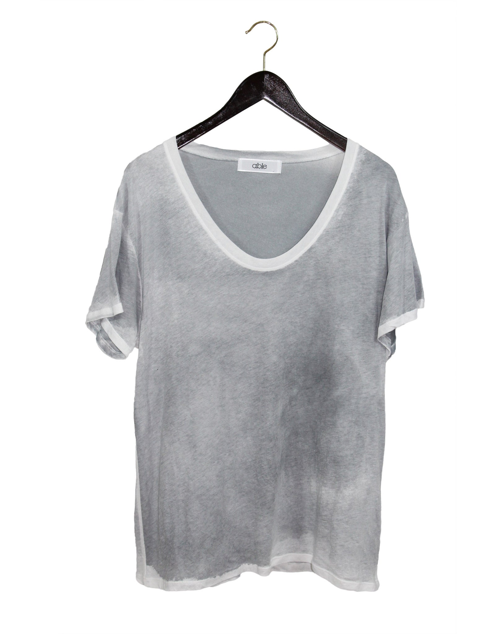 Grey Dyed Tee / Ethical Fashion