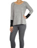 Grey Top with Side Zip (Front) / Ethical Fashion