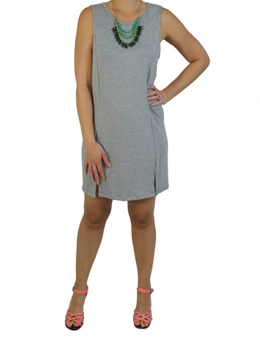 Grey Knit Tank Dress (Necklace) / Ethical Fashion