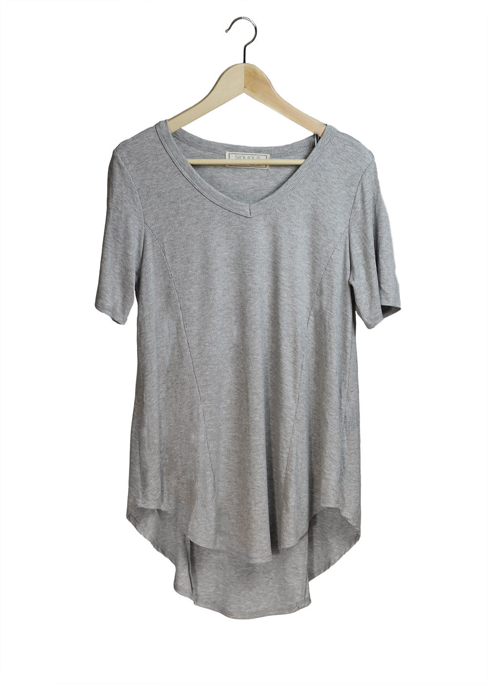 Grey Ribbed Tunic | Made in America