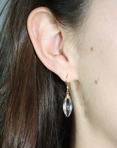 Crystal Clear Earrings (On) / Handmade Jewelry