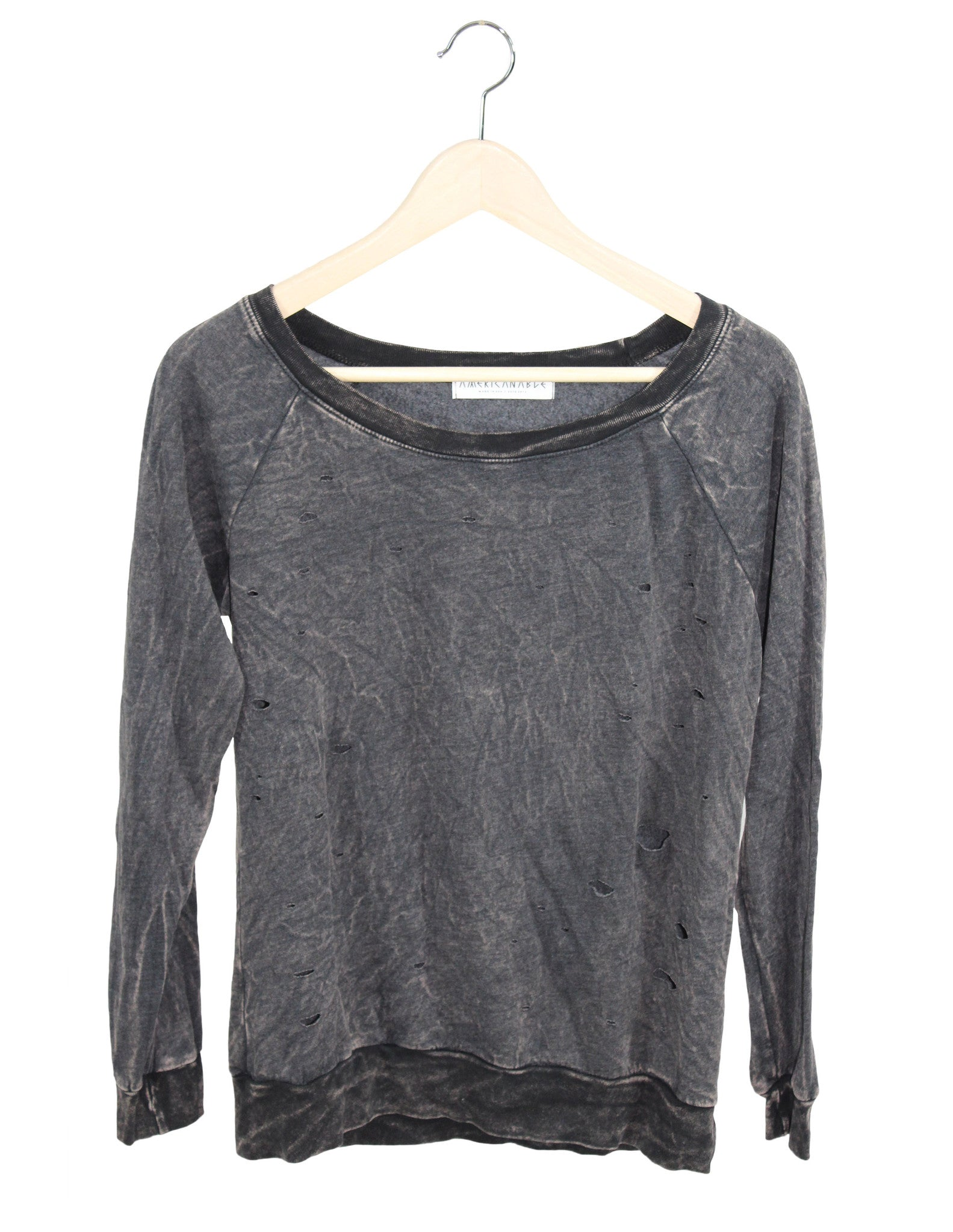 Holy Mineral Washed Sweatshirt / Ethical Fashion