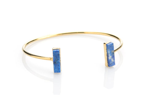 Blue Lapis Bar Cuff